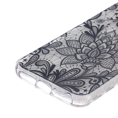 iPhone 5C Coque Silicone,iPhone 5C Coque Transparente,Coque Housse pour iPhone 5C,iPhone 5C Souple Coque Etui en Silicone,EMAXELERS iPhone 5C Coque Silicone Etui Housse,iPhone 5C Coque blanc Fleur Mod B Animal TPU 4