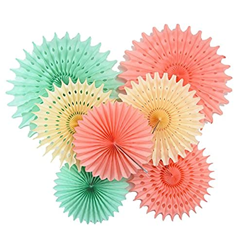 furuix paper honeycomb tissue paper fan mint green peach paper decorations hanging for baby shower bridal shower birthday decor wedding decor party decor