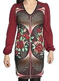 AmarilloLimon Gabanna, Vestido Casual para Mujer, Rojo (Burdeos), 3