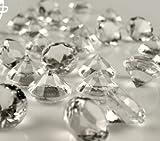 50 Stück Deko Diamanten; 20mm,Tischdeko,Hochzeit,Taufe,Granulate (klar)