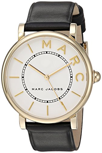 Marc Jacobs Women's Roxy MJ1532 Black Leather Quartz Fashion Watch