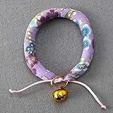 VCB Japanischen Stil Wind Kragen Welpen Kragen Katze Bell Collar Pet Teddy Pet Geschenk - lila