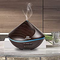 infinitoo Essential Oils Diffuser, 500ml Aroma Ultrasound Humidifier Kids Automatic Off Aroma Diffuser with 4 Modes Adjust Time, 7 Colors LED Lights for Baby Room, Home,Yoga, SPA
