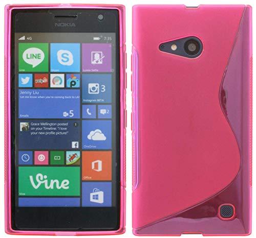 S-Line TPU SchutzHülle für Nokia Lumia 735 Silikon Hülle in Pink @ Energmix