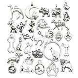 Charm Collection-100g Craft suministros colgantes para manualidades, joyería accesorios para hacer collares y pulseras Cat Dog Charms