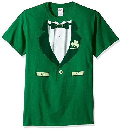 TLine Herren Funny Irish Smoking T-Shirt - Grün - Groß -
