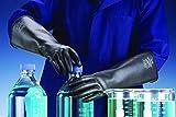 Black Long Chemprotec Heavy Duty Gauntlet Industrial Gloves 40cm Elbow Length Size 10 1 Pair (X LARGE)