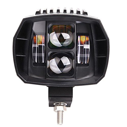 Luci di lavoro di FUSKANG 60W LED, faretti di moto del motociclo dell'automobile Luce di comodità del fascio del proiettore del proiettore di fuoco SUV esterno fuori dalla modifica del veicolo della nave da strada Alta luminosità che guida l'illuminazione, 12V 24V ( Color : Near Light )