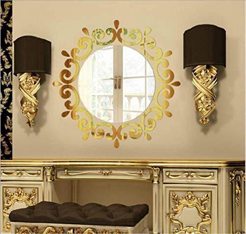 Wandaufkleber 2019 heißesten Zimmer Acryl Aufkleber Kunst Diy Spiegel Licht Dekor 3D Wandaufkleber Dekoration Europäischen Stil, D (Heißesten Mädchen 2019)