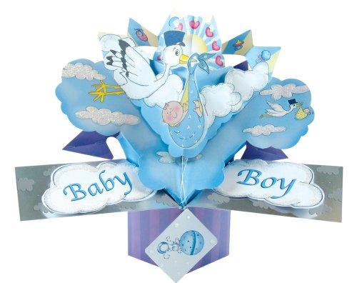 Second Nature POP044 Pop Up Grußkarte zur Geburt eines Jungen