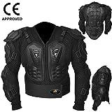 Aqwa Motocross Motorrad Body Armour Jacke Motorrad Schutz Guard Jacken Schwarz, Herren Damen, schwarz
