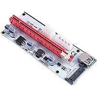 Hillrong PCI-E - Adaptador de Tarjeta de extracción (PCI-E 1 a 16, 3 Puertos de alimentación)