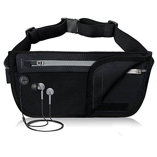 ChenBing Lauftasche mit elastischem Bund Multifunktions-Breathable elastische dünne Handy-Gürteltasche Mehr Taschen Atmungsaktive Radtasche