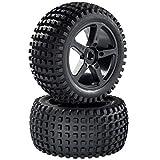 Truggy Reifen Felgenset Heater mit 5-Speichenfelge schwarz 1:8 partCore 320023