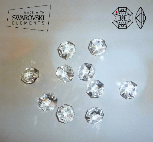 10 cristalli swarovski elements, 14 mm per lampadari,  decorazioni, feng shui
