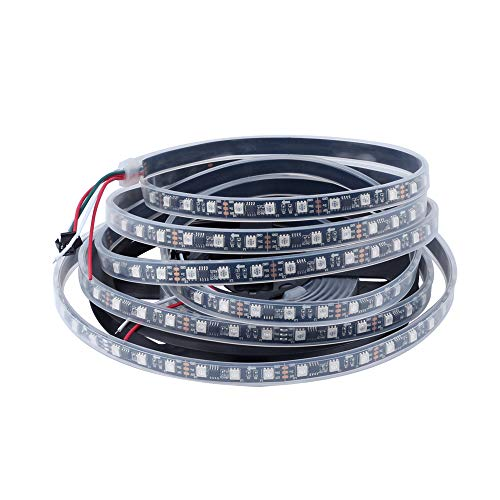Chinly ws2811 5m 100ic 300leds led pixel strip flessibile indirizzabile individualmente led strip dream color ip67 impermeabile dc12v white pcb