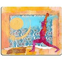 Luxlady alfombrilla para ratón Yoga sun Salute Warrior una Pose Mixed Media Collage imagen ID 326544