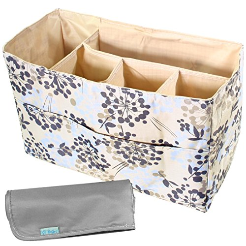 kf-baby-diaper-bag-insert-organizer-firm-compartments-changing-pad-combo