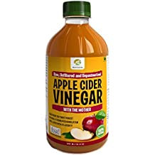 Nutrinelife Apple Cider Vinegar for weight loss ACV 500 ml with Mother, Raw Unfiltered Unpasteurized Apple Cider Vinegar for weight loss, hair Growth Face, Beauty, Health Small Bottle for Men and Women, (Pack of 1)
