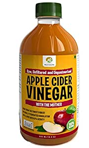 NutrineLife Pure and Natural Apple Cider Vinegar ACV with Mother Vinegar - 500 ml, (Pack of 1)