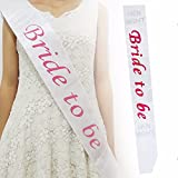 Theme My Party Bride to be sash (white ) (White)