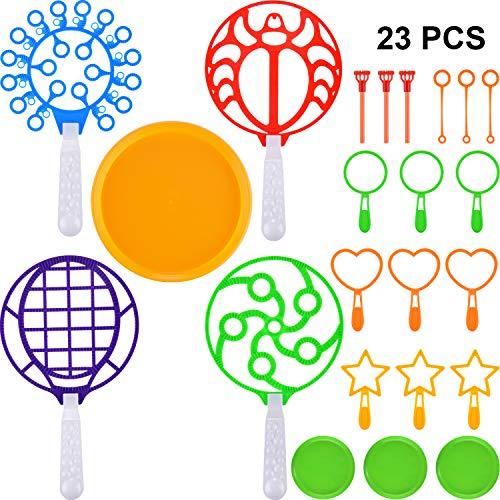 meekoo 23 Stücke Bubble Sticks Bubble Zauberstäbe Outdoor Bubble Spielzeug Bubble Herstellung Set für Sommer Party Urlaub Gefälligkeiten -