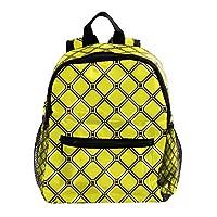 TIZORAX Geometric Diamond Pattern Children Backpack Toddler School Bag for Kid Girls Boys