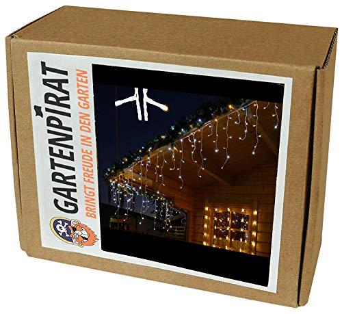 Gartenpirat Eisregen Lichterkette 6m 240 LED-Mix warmweiß/kaltweiß