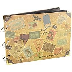 【Viaggio Scrapbook album】 Woodmin 30 pagine Photo Album per i regali, Foto bagagli, Wedding Guest Book e Record di viaggio