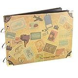 ?Viaggio Scrapbook album? Woodmin 30 pagine Photo Album per i regali, Foto bagagli, Wedding Guest Book e Record di viaggio