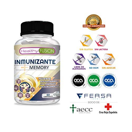 Potente y Completo Multivitamínico con Vitaminas C, E, B3, B5, A, B6, B2, B1, B9, B12, D3, Zinc y Hierro -...