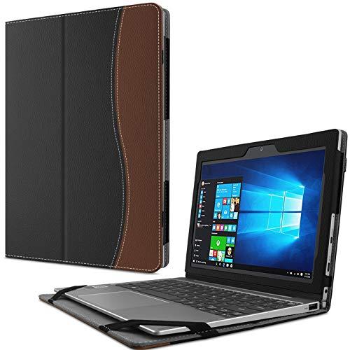 Infiland Lenovo MIIX 320 Hülle Case Slim dünne Schutzhülle Cover Tasche für Lenovo MIIX 320 (mit Auto Schlaf/Wach Funktion, Nicht enthalten Tablet und Tastatur)(Schwarz & Braun)