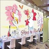 Wuyyii Papel Tapiz Pintado A Mano Acuarela Tienda De Cosméticos Tienda De Cosméticos Fondo De Pared Mural Personalizado Papel Tapiz Estéreo450X300Cmwuyyii