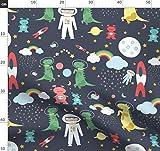 Weltraum, Aliens, Raketen, Planeten, Mond, Stoffe -