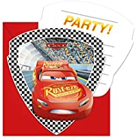 6 Invitations And Envelopes Cars 3 For Kids Birthday Or Theme Party Invitation Cards Children