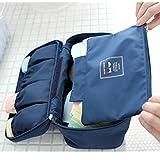 tia-ve portátil sujetador ropa interior lencería de viaje bolsa organizador bolsa de almacenamiento (azul profundo)