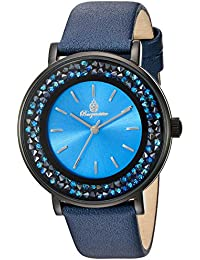 Burgmeister Armbanduhr für Damen mit Analog Anzeige, Quarz-Uhr und und Lederarmband - Wasserdichte Damenuhr mit zeitlosem, schickem Design - klassische, elegante Uhr für Frauen - BM537-633 St. Lucia