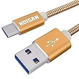 HOISAN Câble USB Type-C vers USB-A mâle en Metal Tressé - 1 m - Doré