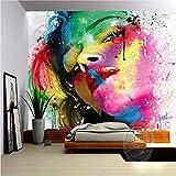 Carta Da Parati Foto Wallpaper 3D Dipinto A Mano Astratto Colorato Figura Tema Murale Soggiorno Tv Sfondo Moda Srore Wallpaper Murale, 150 * 105 Cm