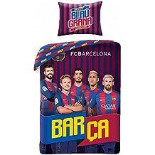 FC Barcelona Azul grana–Fundas de cama–140x 200cm–70x 90cm–algodón
