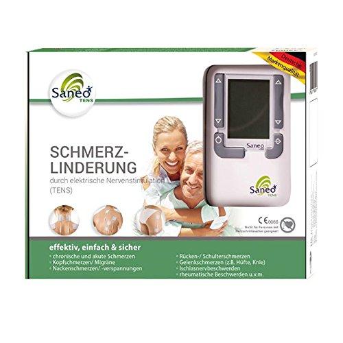 SaneoTENS Schmerzlinderung * deutsche Markenqualität * Medizinprodukt * Tensgerät, Reizstrom-Gerät, Therapie-Gerät mit TENS Elektrostimulation