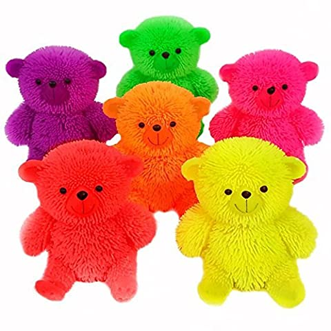 Flashing Puffer Teddy Bear Squidgy Sensory Toy
