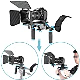 Neewer® DSLR Film Video Kamera, Rig Set System Kit für Camcorder oder DSLR wie Canon Nikon Sony Pentax Fujifilm Panasonic, enthalten: (1) Shoulder Mount + (1) 15 mm Rail Rod System + (1) matt Box