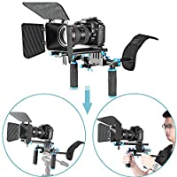 Neewer Camera Movie Video Making Rig System Film-Maker Kit for Canon Nikon Sony and Other DSLR Cameras, DV Camcorders,Includes: Shoulder Mount, Standard 15mm Rail Rod System, Matte Box (Red and Black) 29