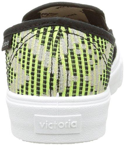 Victoria Slip On Geometrico, Baskets Basses mixte adulte Vert (58 Lima)