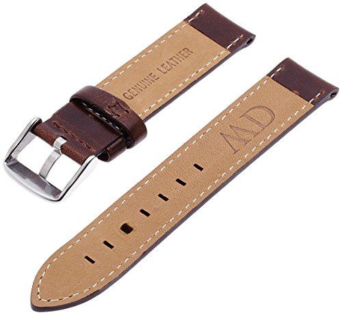 Daniel Wellington 0811DW - Correa de Cuero para Reloj de Mujer, Color marrón (18.0 mm)