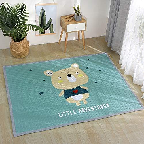 Small-rugs Kinderzimmer Teppich Baby Kleinkind Kinder Spielmatte Für Schlafzimmer Dekor Wohnzimmer Teppiche Weich & Amp; Dicke rutschfeste Kriechmatte A-145 * 195cm -