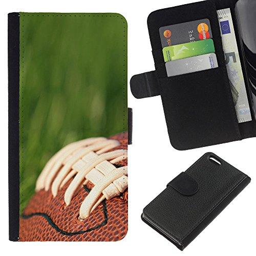 Graphic4You Amerikaner Fußball Football Sport Design Brieftasche Leder Hülle Case Schutzhülle für Apple iPhone 5C Design #2
