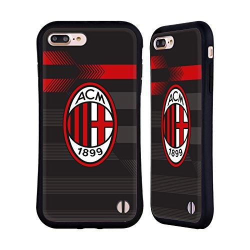 Head Case Designs Ufficiale AC Milan Terza Maglia 2018/19 Kit Cresta Cover Ibrida Compatibile con iPhone 7 Plus/iPhone 8 Plus