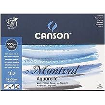 Canson 0807319 Blocco, Linea Acquerello Montval